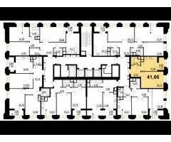 1-комнатная квартира комфорт-класса 41.66 кв.м. в 10 мин от метро Октябрьское поле