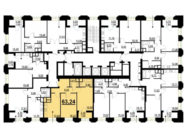 Готовая новая 2-комнатная квартира комфорт-класса 63.24 кв.м. в 15 мин от м. Октябрьское поле - 2/4