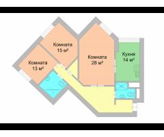 Продается 3хкомнатная квартира в Куркино.
